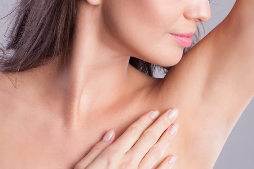 Laser Hair Removal at Skin Solutions - Image of woman's armpit without any hair.