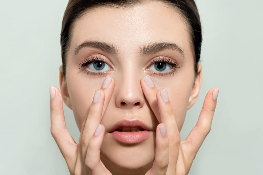 Lash Lift at Skin Solutions - Image of woman's eyelashes lifted.